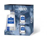 1800 Silver Tequila w/Replica Shot Glasses