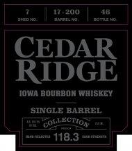 Cedar Ridge Bourbon: Single Barrel Collection (S.B.C.)