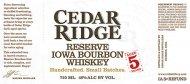Cedar Ridge Reserve Bourbon