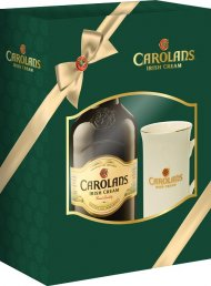 Carolans Irish Cream w/2 Glasses