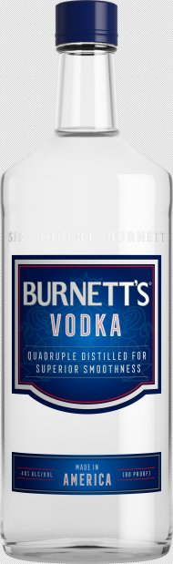 Burnetts Vodka 80prf