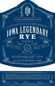 Iowa Legendary Rye Vodka