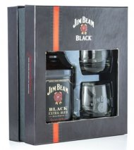 Jim Beam Black w/2 Glasses