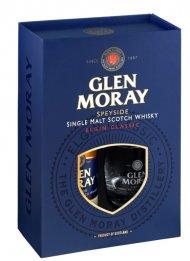 Glen Moray Elgin Classic Whiskey w/2 Glasses