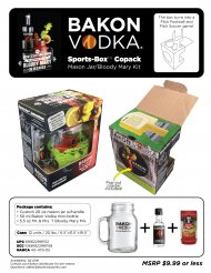 Bakon Vodka Sports Box Bloody Mary Kit