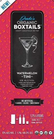 Drakes Organic Boxtails Vodka WatermelonTini
