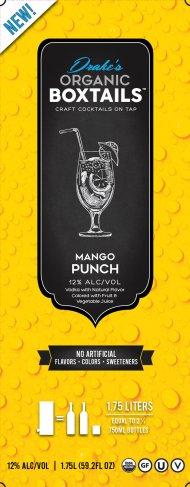 Drakes Organic Boxtails Mango Vodka Punch