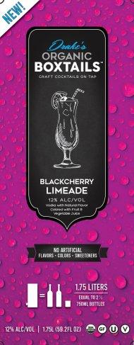 Drakes Organic Boxtails Black Cherry Limeade