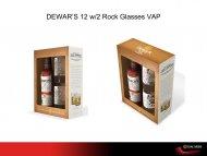 Dewars 12YR w/2 Rock Glasses