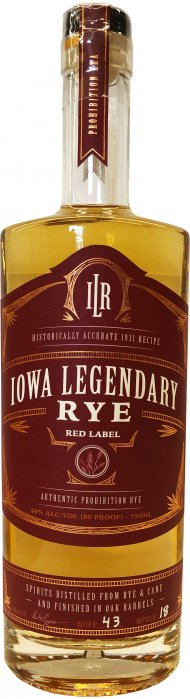 Iowa Legendary Rye Red Label