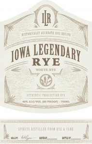 Iowa Legendary Rye White Label